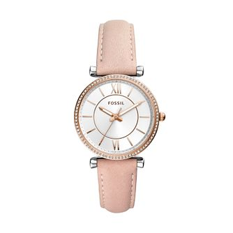 Fossil Carlie Ladies' Nude Leather Strap Watch - Product number 2339374
