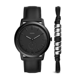 Fossil The Minimalist Mono Men's Watch & Bracelet Set - Product number 2339560