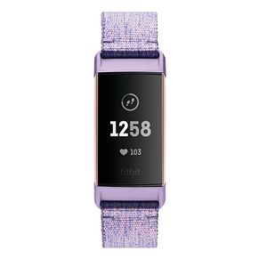 Fitbit Charge 3 Lilac Fabric Strap Watch - Product number 2339617