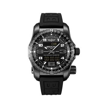 Breitling Emergency II men's black rubber strap watch - Product number 2340259