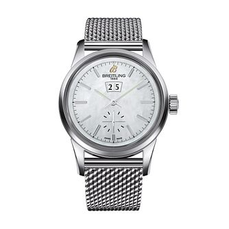 Breitling Transocean 38 men's stainless steel bracelet watch - Product number 2342510