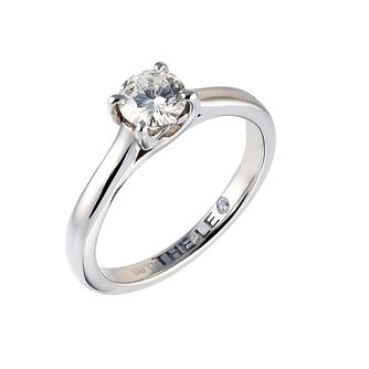 Leo Artisan platinum 0.66ct I-SI2 diamond solitaire ring - Product number 2343169