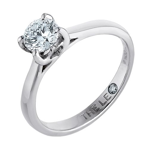 Leo Artisan platinum one carat I-SI2 diamond solitaire ring - Product number 2343290