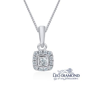Leo Diamond 18ct white gold 0.20ct I-I1 pendant - Product number 2344432