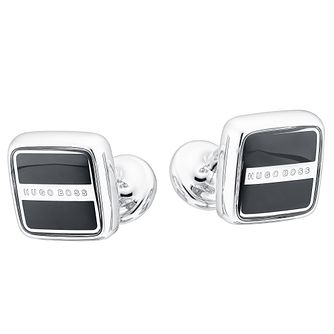 Hugo Boss Robert men's black square cufflinks - Product number 2349132