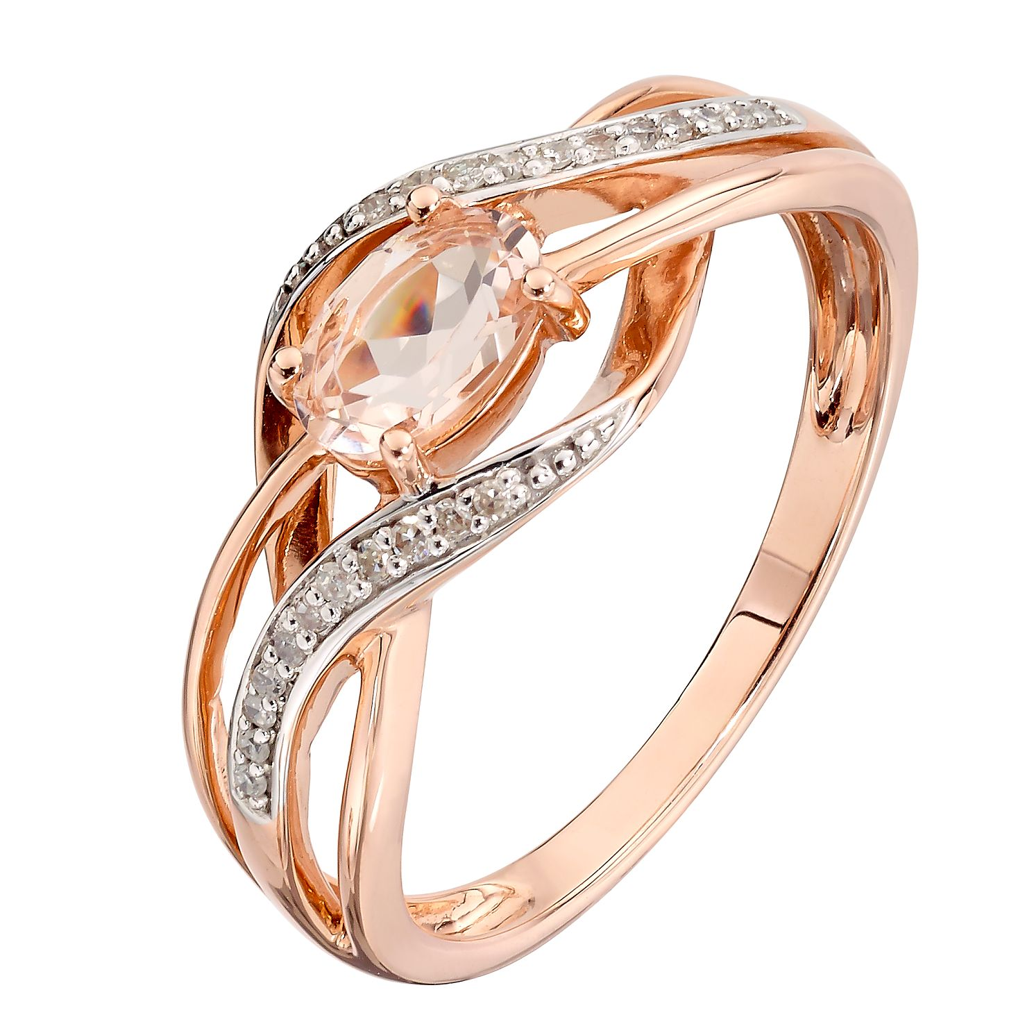 rings diamond solitaire gold engagement ring set in round rose tension rockher
