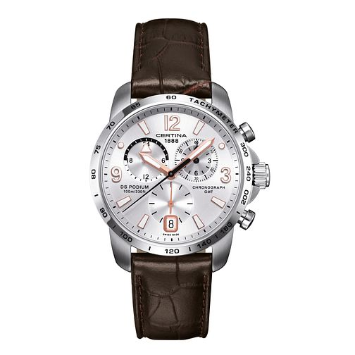 Certina DS Podium men's stainless steel leather strap watch - Product number 2351633
