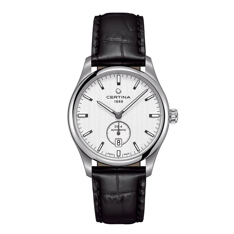 Certina DS4 men's stainless steel black leather strap watch - Product number 2352265