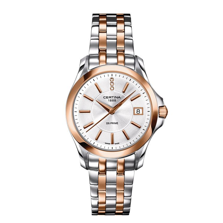 Certina DS Prime ladies' two colour bracelet watch - Product number 2352656