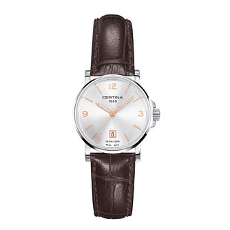 Certina DS Caimano ladies' brown leather strap watch - Product number 2352729