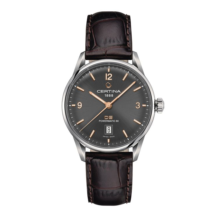Certina DS men's stainless steel leather strap watch - Product number 2353091