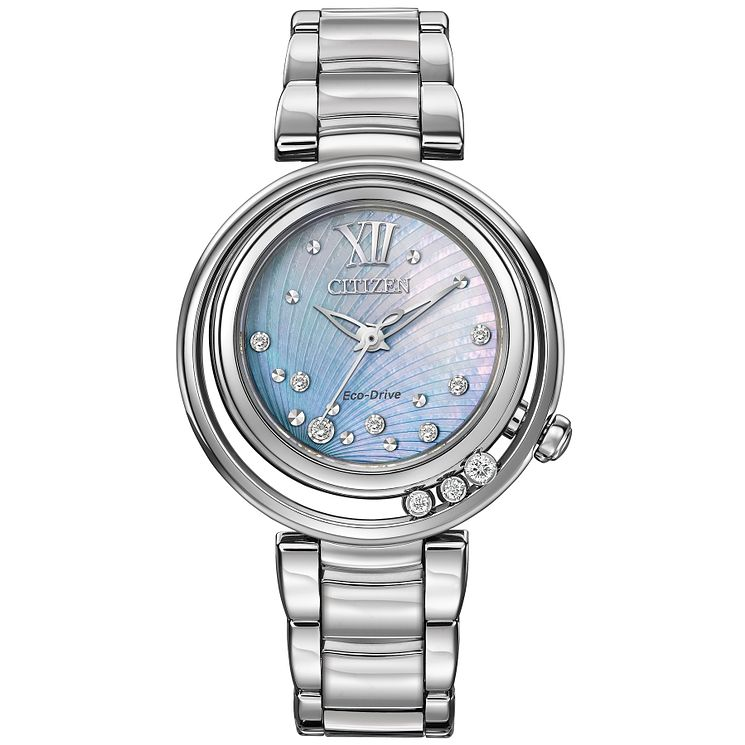 Citizen ladies' stainless steel Floating Diamonds watch - Product number 2353563