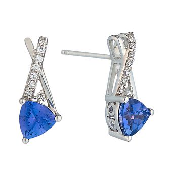 Le Vian 14ct Vanilla Gold Tanzanite & Diamond stud earrings - Product number 2364581