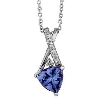 Le Vian 14ct white gold tanzanite & diamond pendant - Product number 2364603