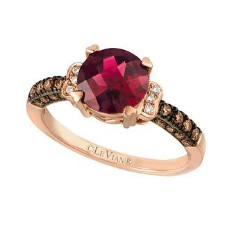 Strawberry Gold Raspberry Rhodalite & Diamond Ring - Product number 2369869