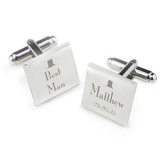 Decorative Wedding Best Man Square Cufflinks - Product number 2391724