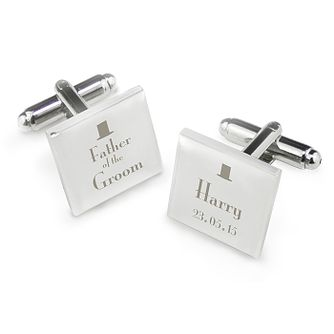 Decorative Wedding Father of the Groom Square Cufflinks - Product number 2392054