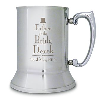 Decorative Father of the Bride Stainless Steel Tankard - Product number 2392100