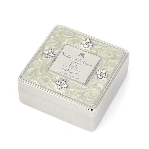 Decorative Mother of the Groom Square Diamante Trinket Box - Product number 2392208
