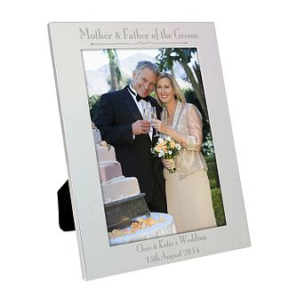 Silver 5x7 Decorative Mother & Father of the Groom Frame - Product number 2392232