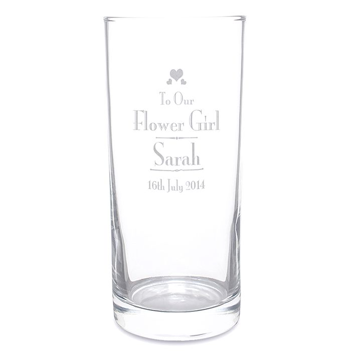 Decorative Wedding Flower Girl Hi Ball Glass - Product number 2393433