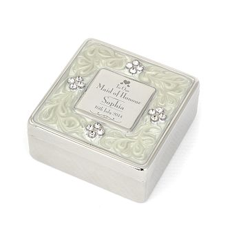 Decorative Maid of Honour Square Diamante Trinket Box - Product number 2393492