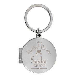 Decorative Wedding Maid of Honour Round Photo Keyring - Product number 2393565
