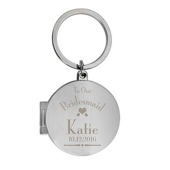Decorative Wedding Bridesmaid Round Photo Keyring - Product number 2393573