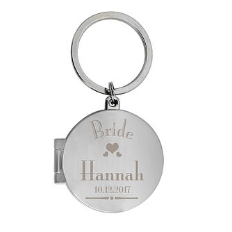 Decorative Wedding Bride Round Photo Keyring - Product number 2393581