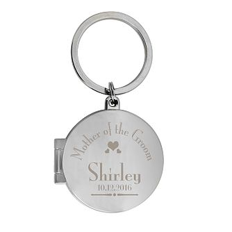 Decorative Wedding Mother of the Groom Round Photo Keyring - Product number 2393638