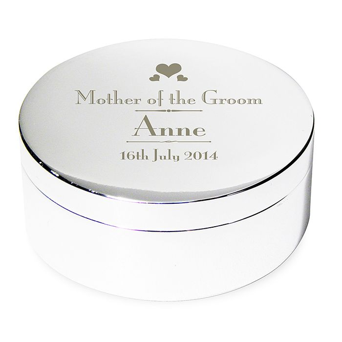 Decorative Wedding Mother of the Groom Round Trinket Box - Product number 2393786