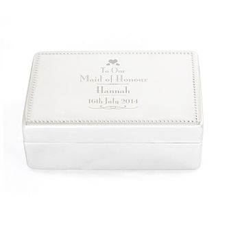 Decorative Wedding Maid of Honour Jewellery Box - Product number 2393840