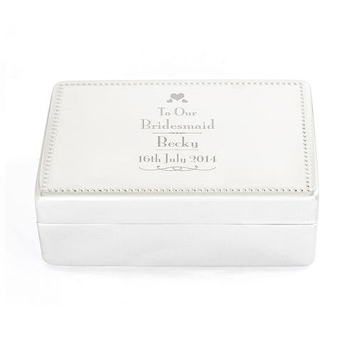 Decorative Wedding Bridesmaid Jewellery Box - Product number 2393859