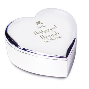 Decorative Wedding Bridesmaid Heart Trinket - Product number 2394286