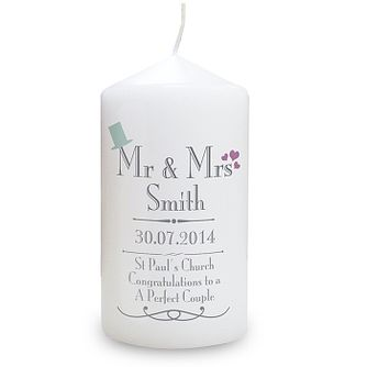 Decorative Wedding Mr & Mrs Candle - Product number 2394502