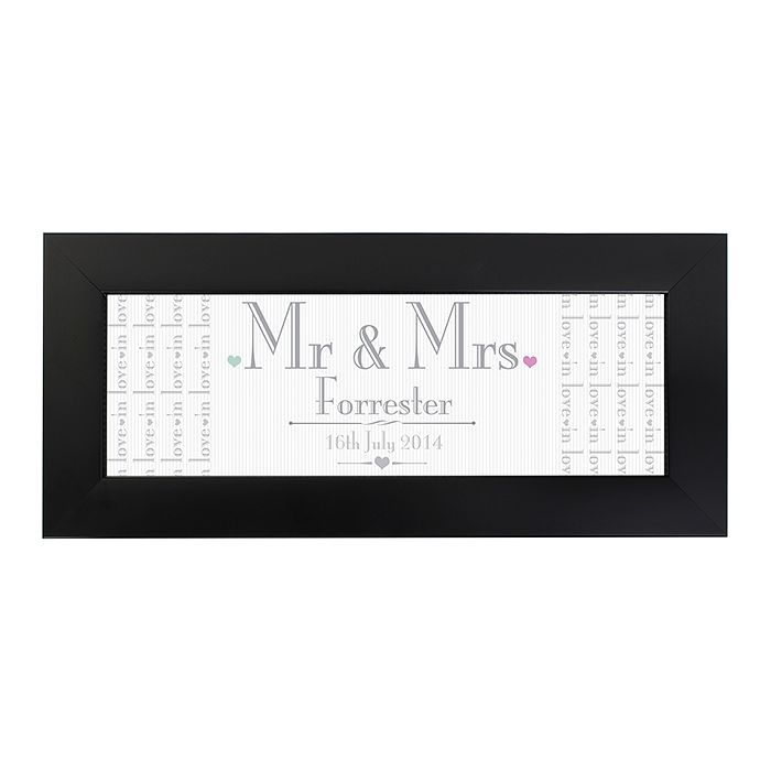 Decorative Wedding Mr & Mrs Black Name Frame - Product number 2394553