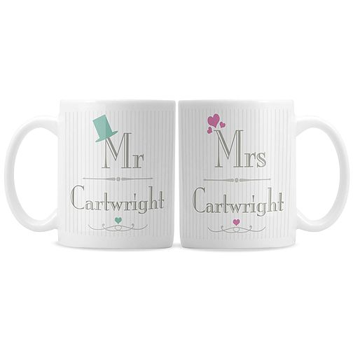 Decorative Wedding Mr & Mrs Mug Set - Product number 2394650