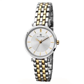 Accurist Ladies' Two-tone Gold Plated Bracelet Watch - Product number 2400006
