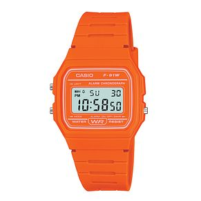 Casio Men's Orange Resin Strap Digital Watch - Product number 2400677
