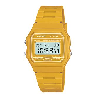 Casio Men's Yellow Resin Strap Digital Watch - Product number 2400952