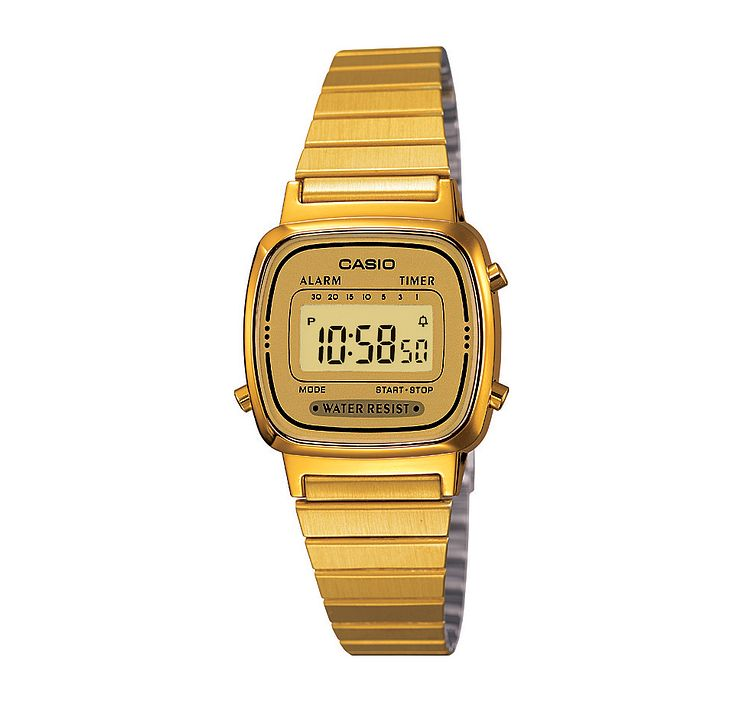 Casio Ladies' Mini Yellow Gold Plated Digital Watch - Product number 2401053