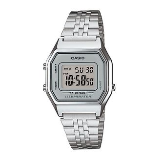 Casio Men's Stainless Steel Grey Dial Digital Watch - Product number 2401150