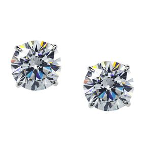 CARAT* LONDON 9ct white gold stone set stud earrings - Product number 2405520