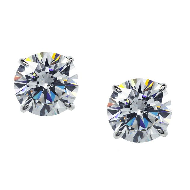 CARAT* 9ct white gold stone set stud earrings - Product number 2405520