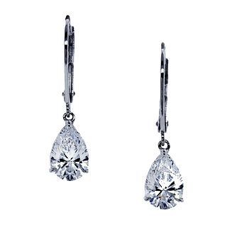 CARAT* LONDON 9ct white gold stone set pear drop earrings - Product number 2405547