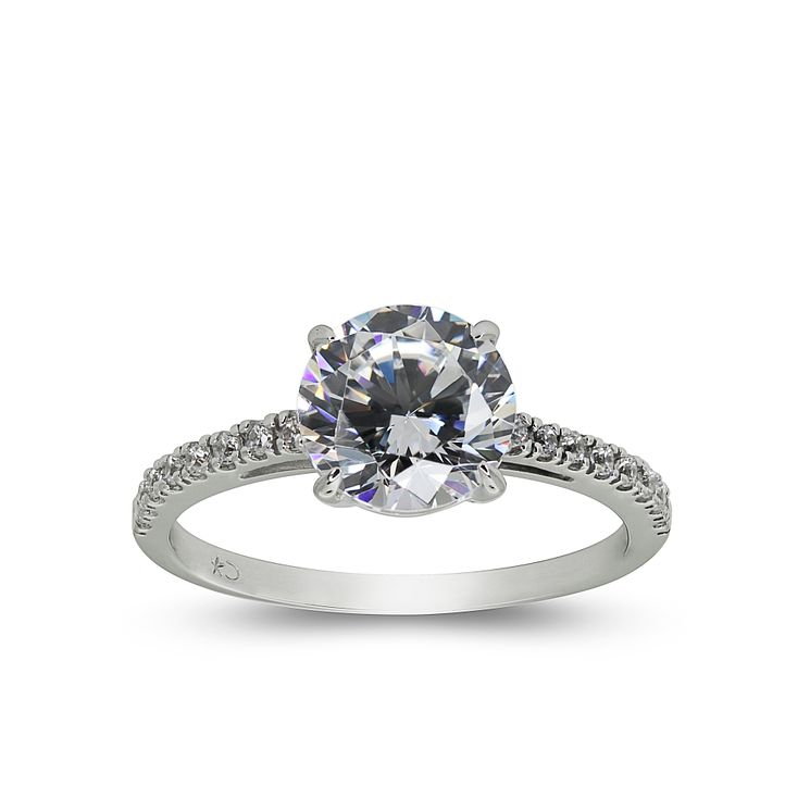 CARAT* 9ct white gold stone set ring size O - Product number 2405679