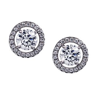 CARAT* silver stone set  border stud earrings - Product number 2405822