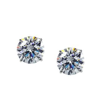 CARAT* 9ct white gold stone set eternal stud earrings - Product number 2405970