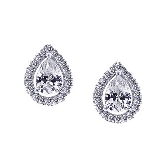 CARAT* LONDON sterling silver stone set pear stud earrings - Product number 2406160