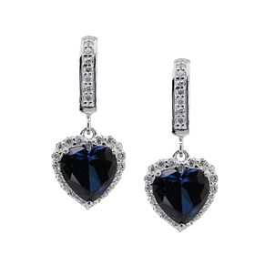 CARAT* LONDON sterling silver created sapphire earrings - Product number 2406209